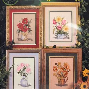 Bouquet Of Seasons Cross My Heart Cross Stitch Pattern Book