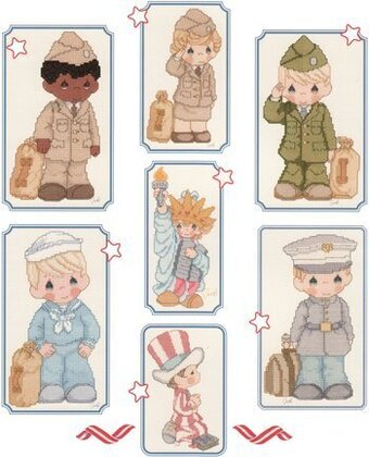 Sweet Land of Liberty Precious Moments Cross Stitch
