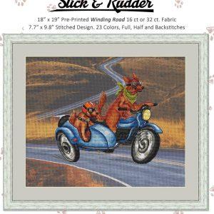Stick and Rudder Winding Road Cross Stitch Pattern